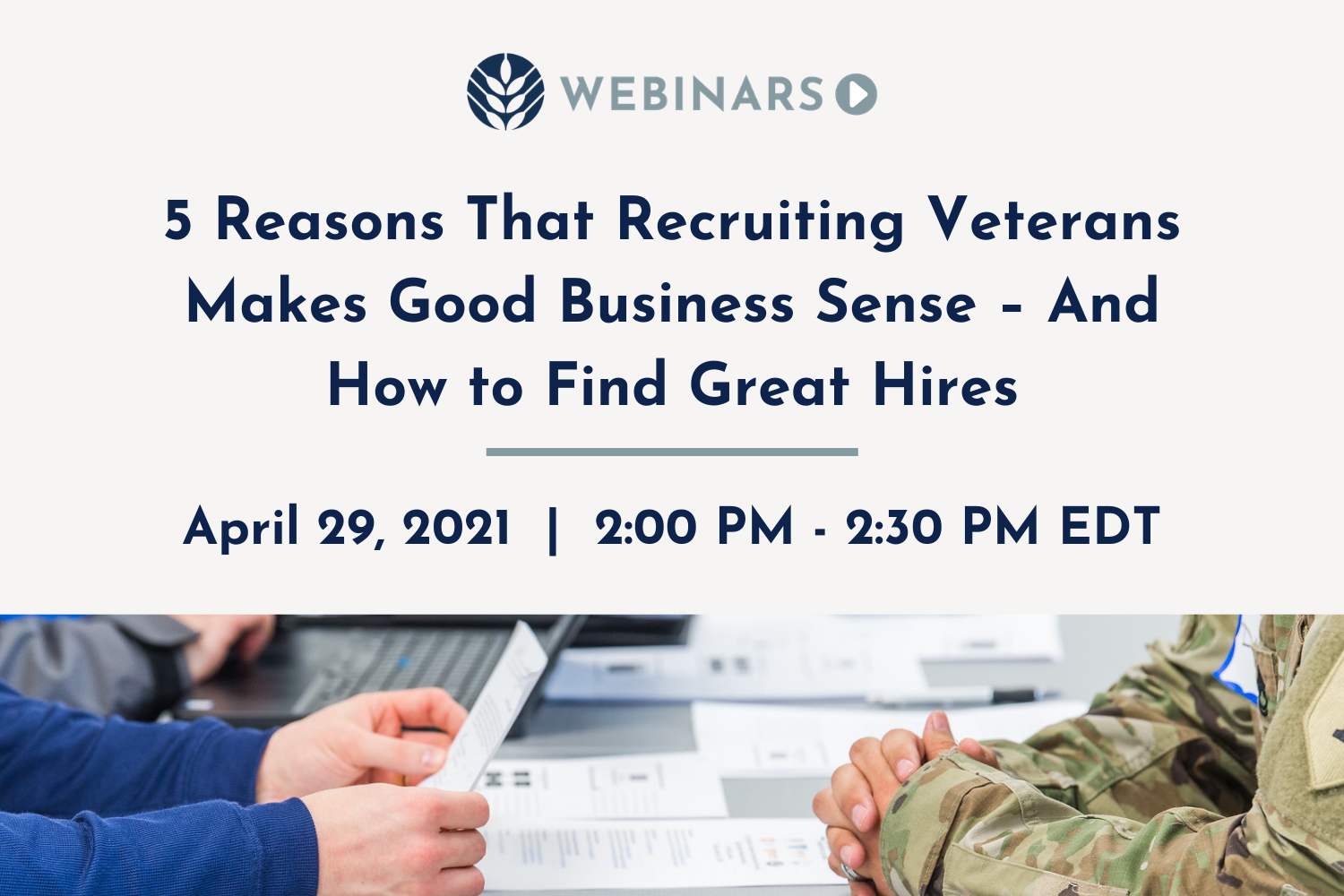 Veternas Hiring Virtual Event