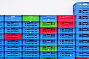 crates stacked